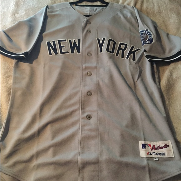 19457e58f81 New York Yankees Derek Jeter Road Jersey